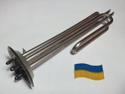 Тэн нерж.фланец  92- 2,5 кВт, гнутый, под анод м6 Украина