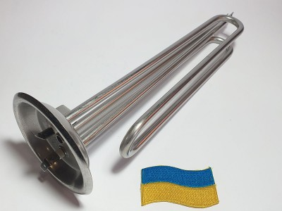 Тэн нерж. фланец 92- 1.5 кВт, фланец, гнутый, под анод м6 Украина