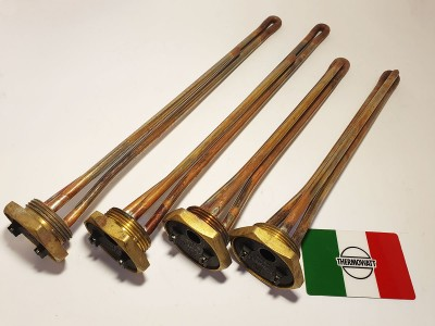 медный тэн прямой формы с латунным основанием 1.1/4 Производство Италия мощность 2000w